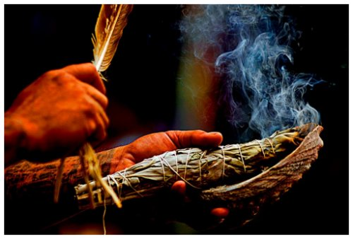 Smudging with sage, cedar or your choice!